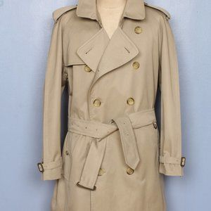 Mens Burberry Trench Coat 1457 Cotton 46